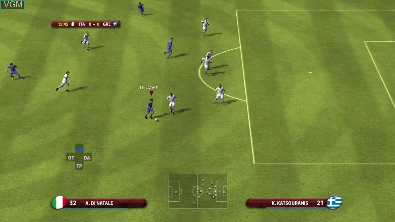 In-game screen of the game UEFA EURO 2008 - Austria-Switzerland on Microsoft Xbox 360