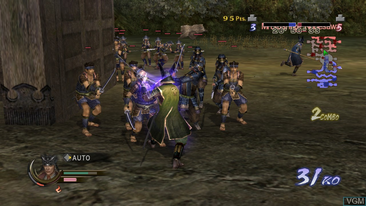 In-game screen of the game Samurai Warriors 2 Empires on Microsoft Xbox 360