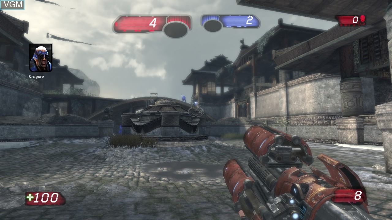 In-game screen of the game Unreal Tournament III on Microsoft Xbox 360