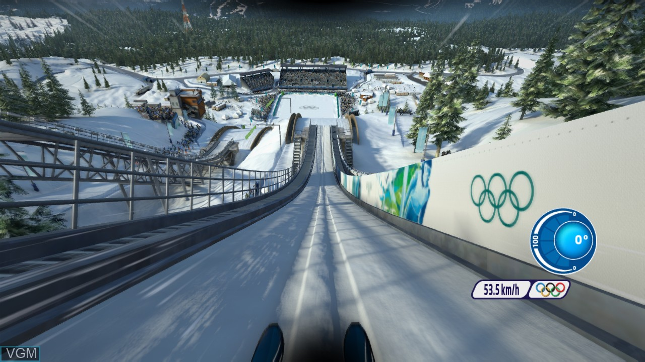 In-game screen of the game Vancouver 2010 - The Official Video Game of the Olympic Winter Games on Microsoft Xbox 360
