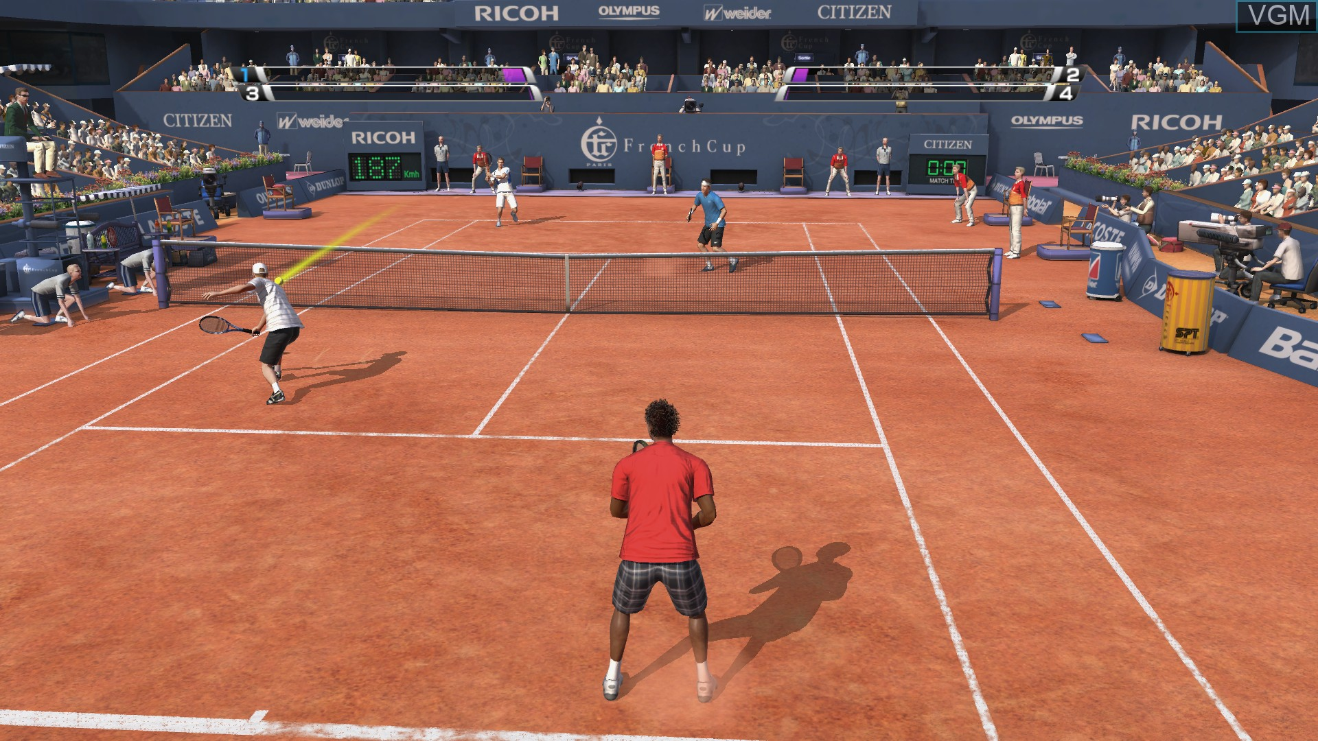 In-game screen of the game Virtua Tennis 4 on Microsoft Xbox 360