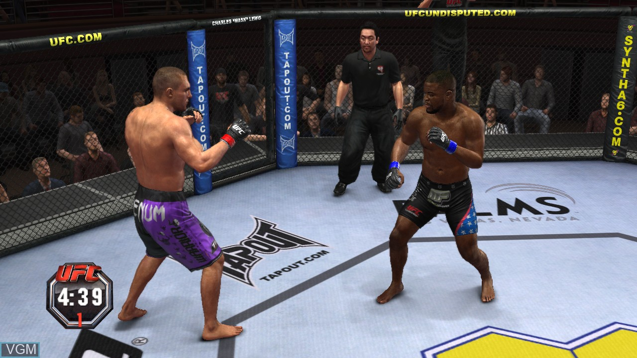 In-game screen of the game UFC Undisputed 2010 on Microsoft Xbox 360