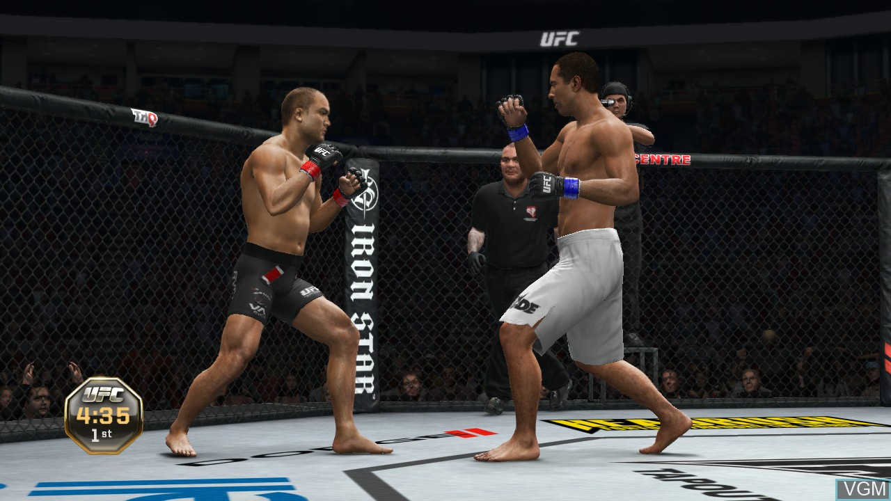 In-game screen of the game UFC Undisputed 3 on Microsoft Xbox 360