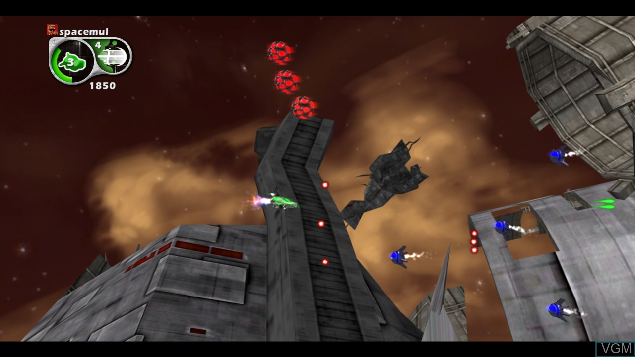 In-game screen of the game Aegis Wing on Microsoft Xbox 360