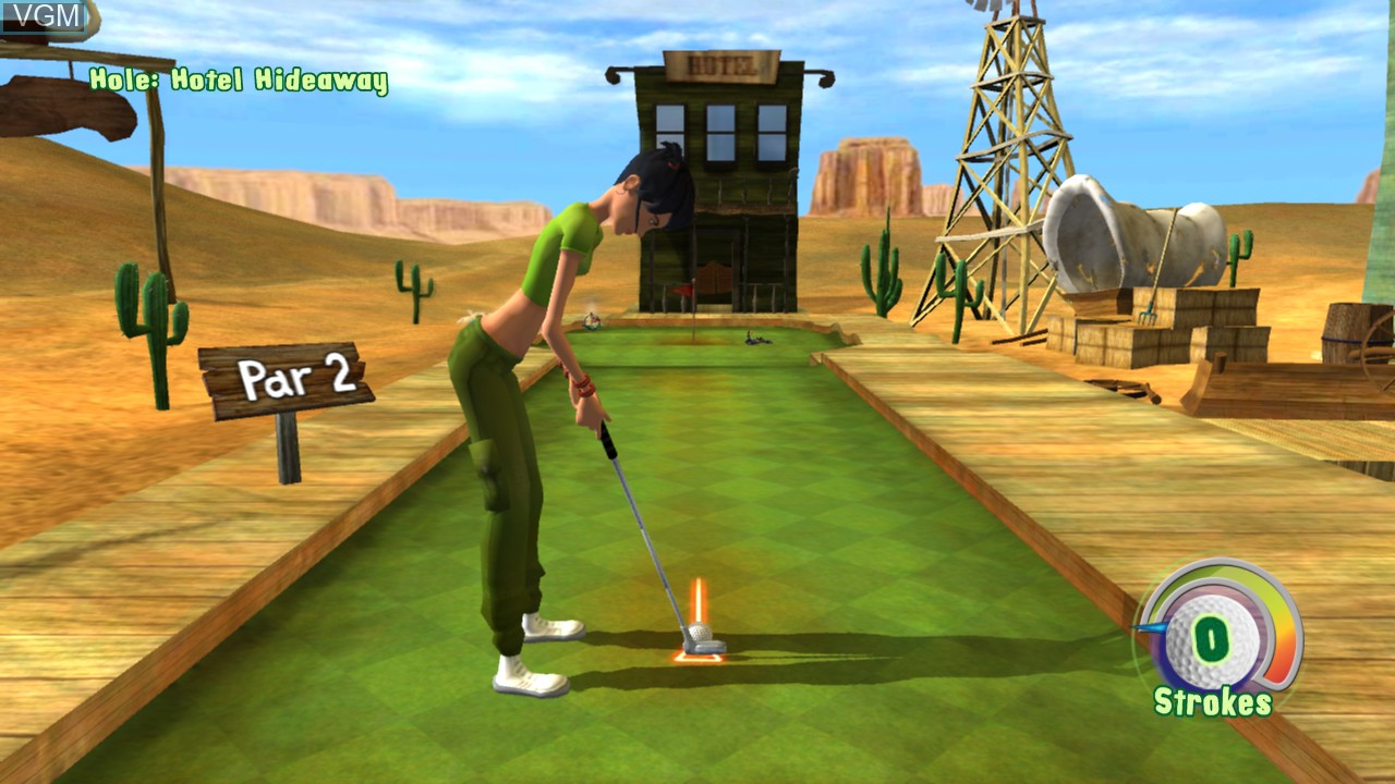 In-game screen of the game 3D Ultra MiniGolf Adventures on Microsoft Xbox 360