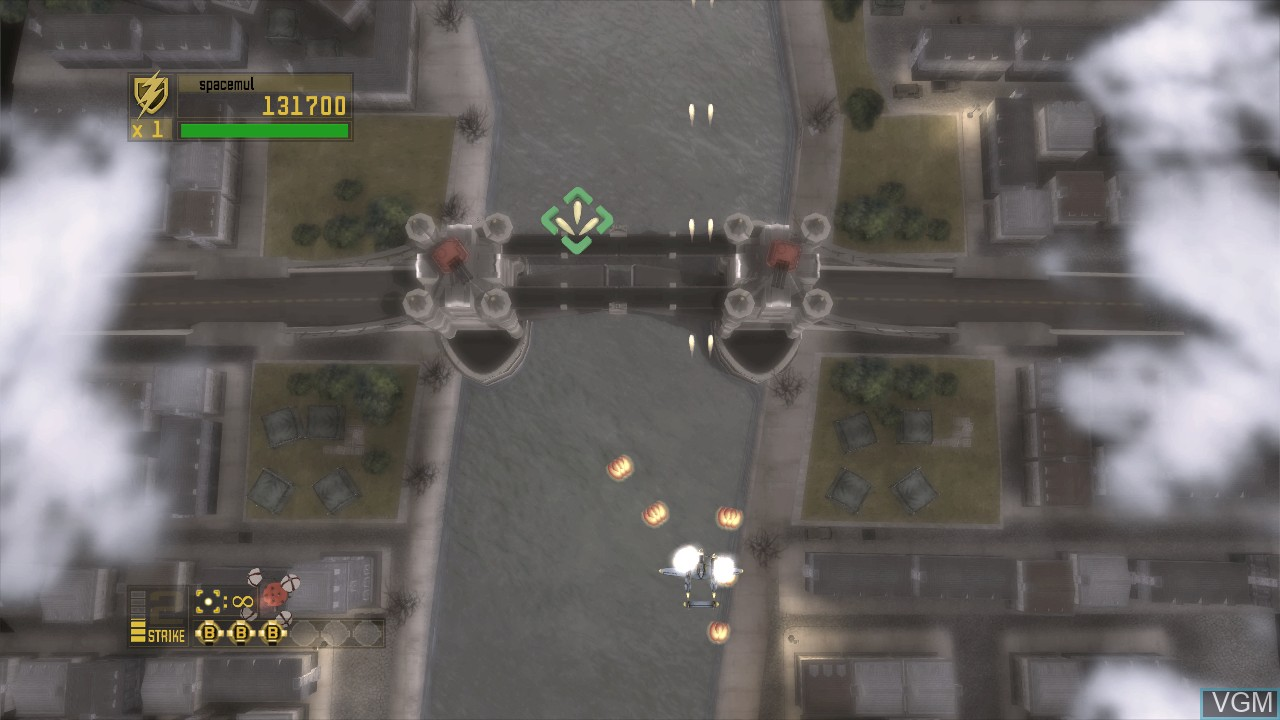 In-game screen of the game 1942 - Joint Strike on Microsoft Xbox 360
