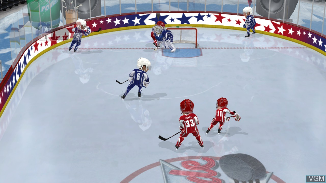In-game screen of the game 3 on 3 NHL Arcade on Microsoft Xbox 360