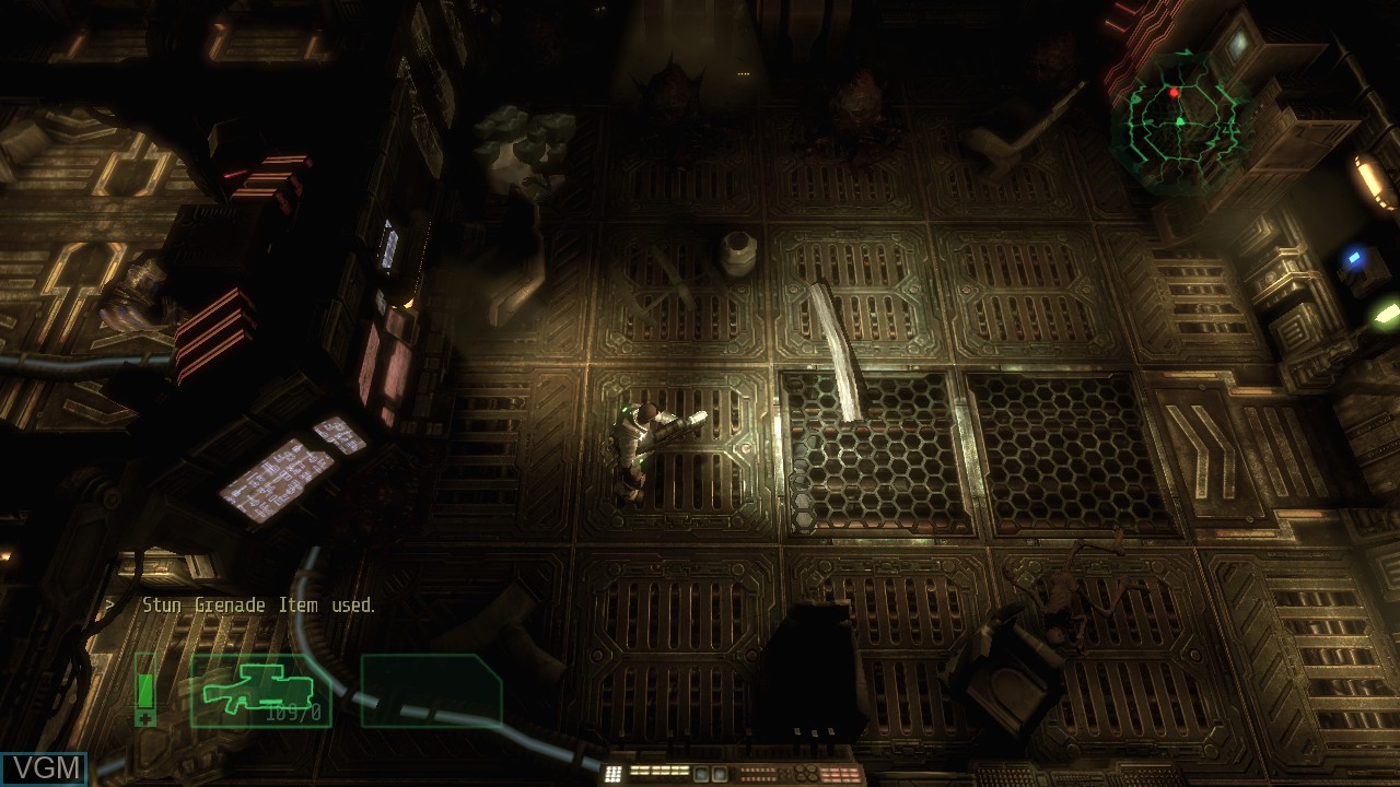 In-game screen of the game Alien Breed 2 - Assault on Microsoft Xbox 360