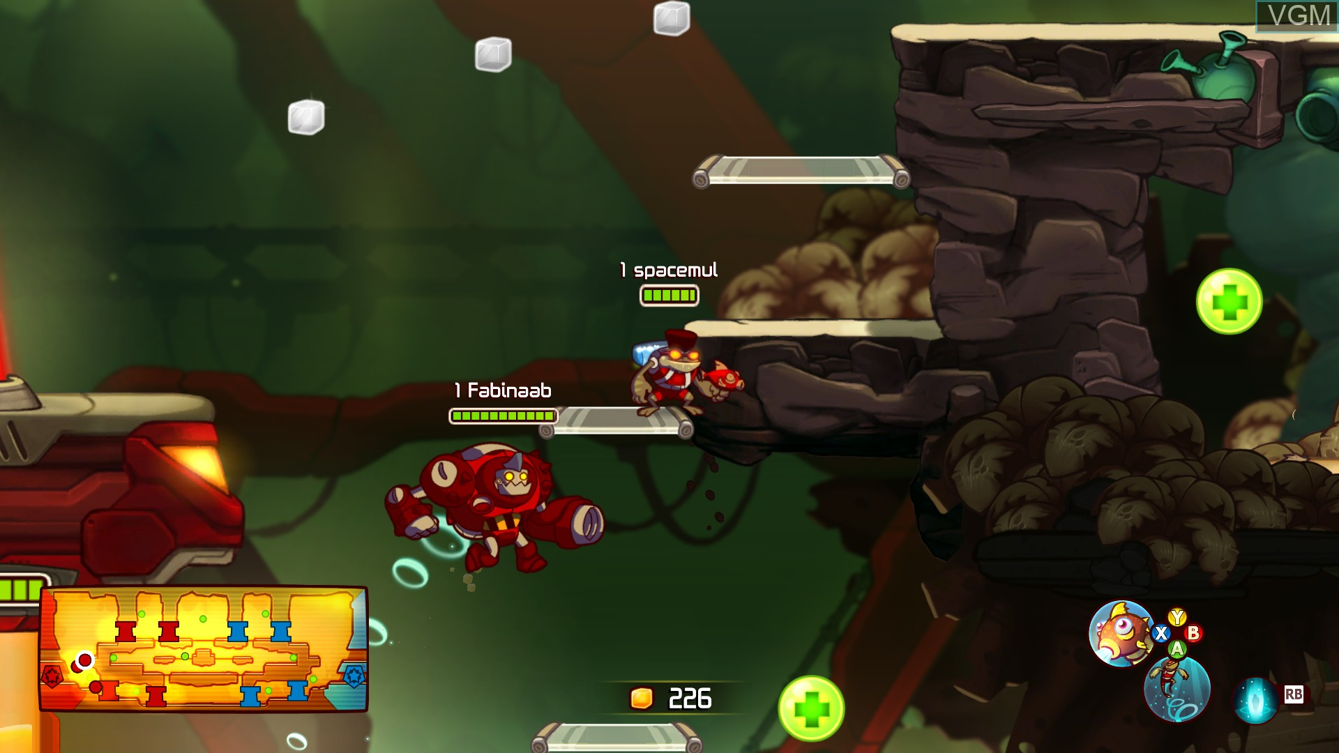 In-game screen of the game Awesomenauts on Microsoft Xbox 360
