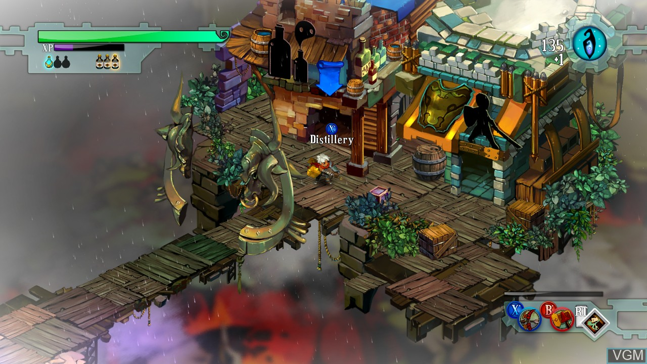 In-game screen of the game Bastion on Microsoft Xbox 360