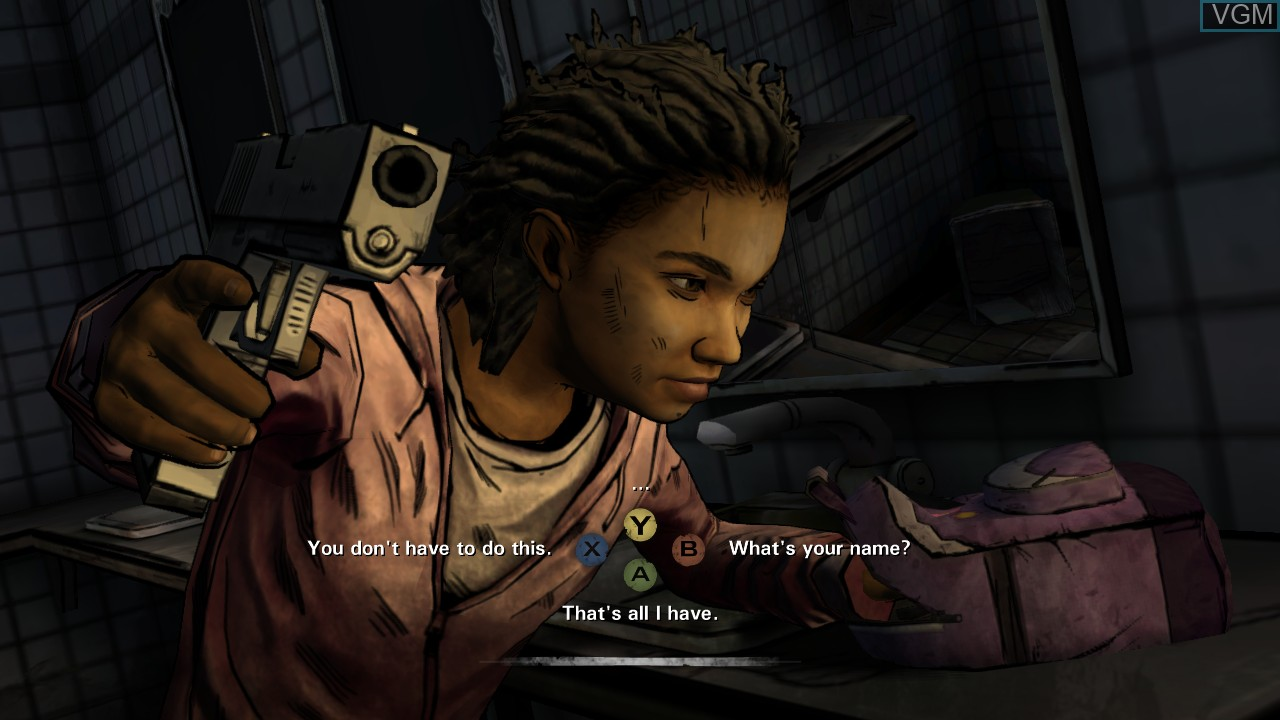 In-game screen of the game Walking Dead, The - Season Two - A Telltale Games Series on Microsoft Xbox 360