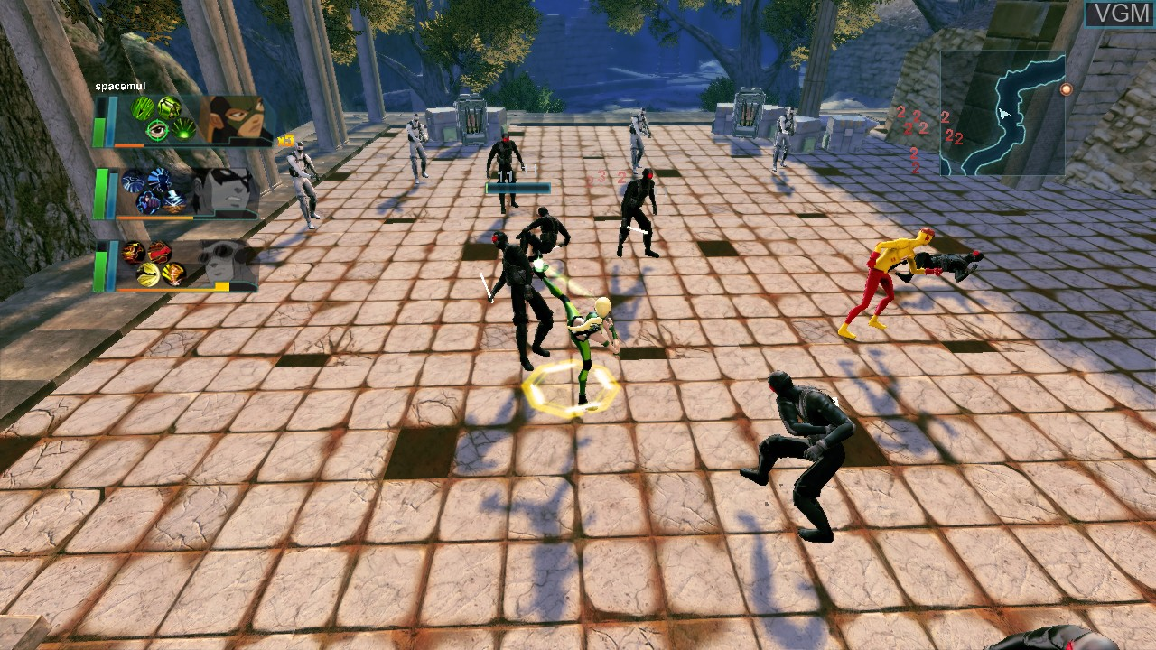 In-game screen of the game Young Justice - Legacy on Microsoft Xbox 360