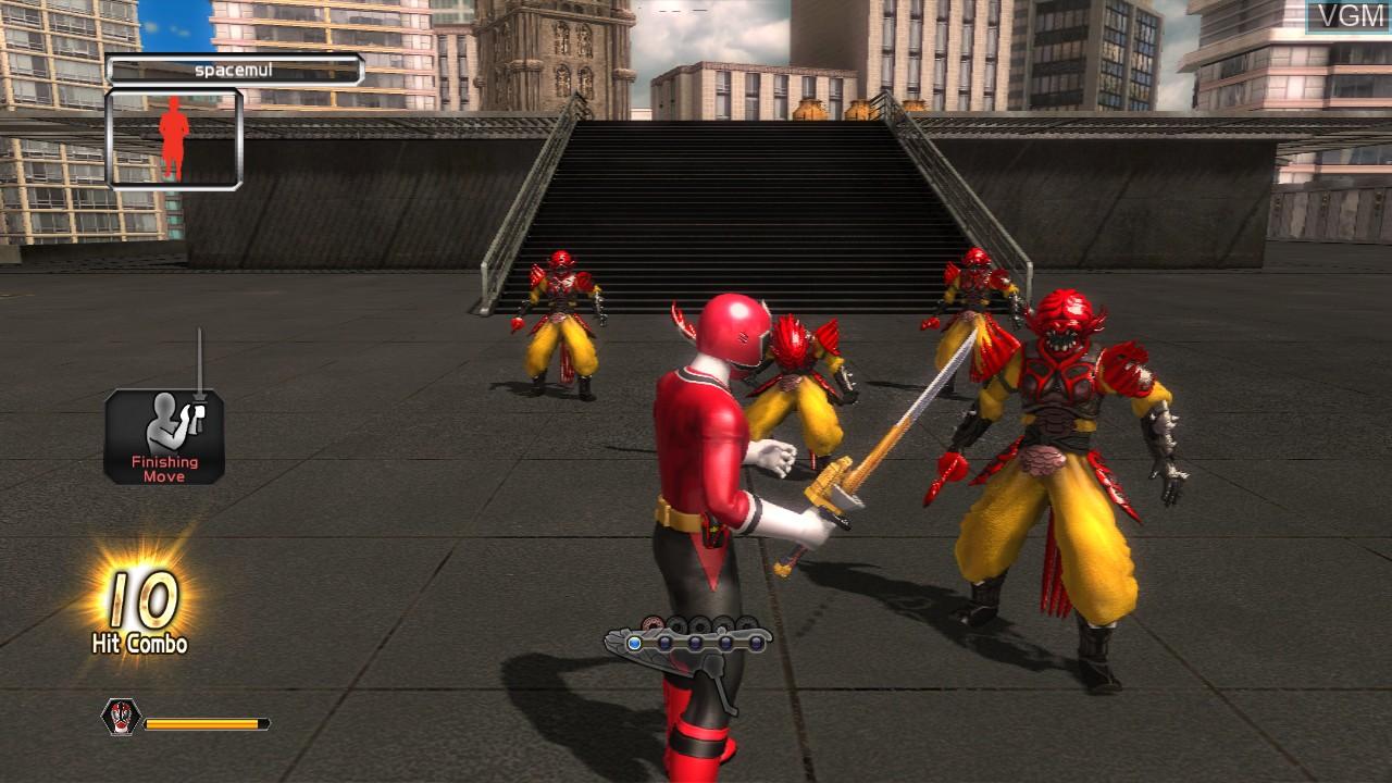 In-game screen of the game Power Rangers Super Samurai on Microsoft Xbox 360