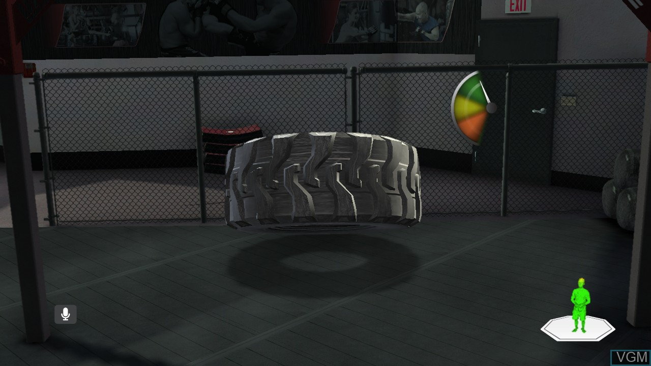 In-game screen of the game UFC Personal Trainer - The Ultimate Fitness System on Microsoft Xbox 360