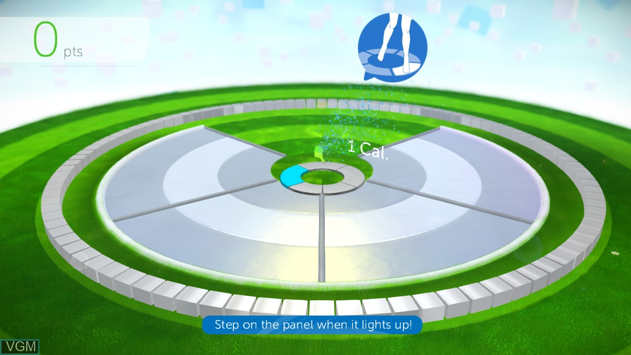 In-game screen of the game Your Shape Fitness Evolved 2012 on Microsoft Xbox 360
