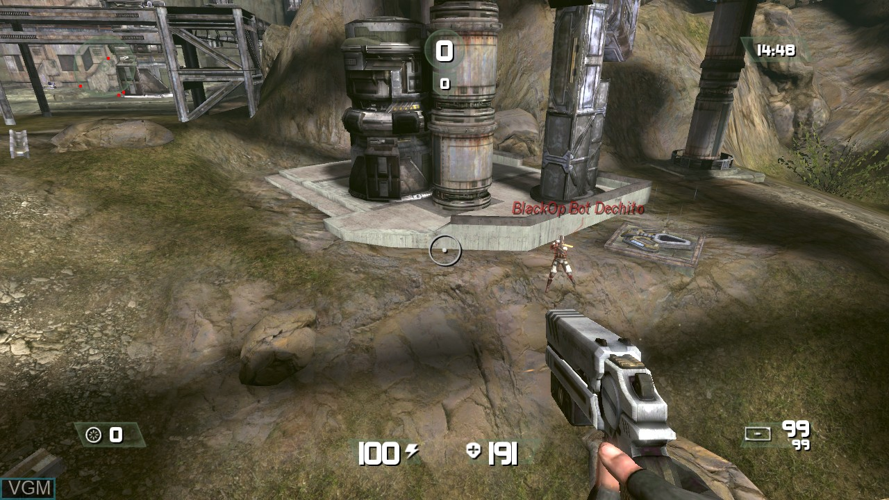In-game screen of the game CellFactor - Psychokinetic Wars on Microsoft Xbox 360