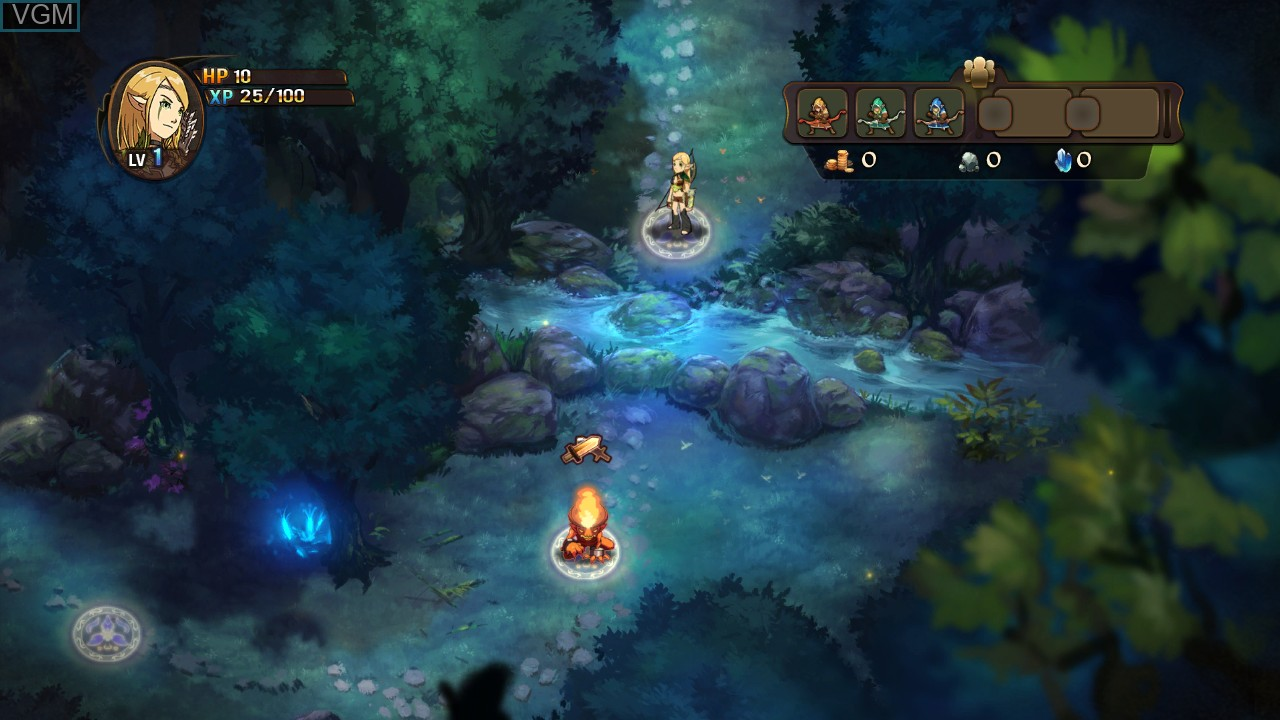 In-game screen of the game Might & Magic - Clash of Heroes on Microsoft Xbox 360
