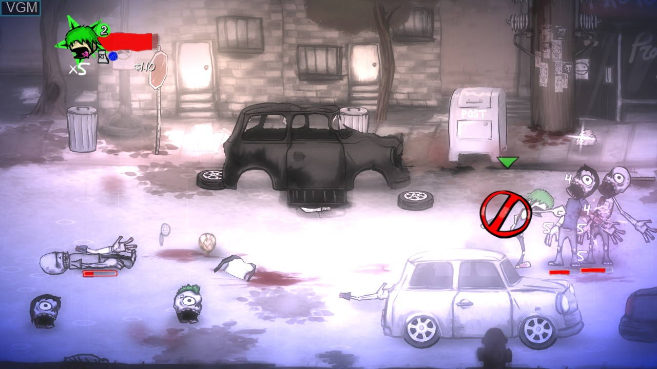 In-game screen of the game Charlie Murder on Microsoft Xbox 360