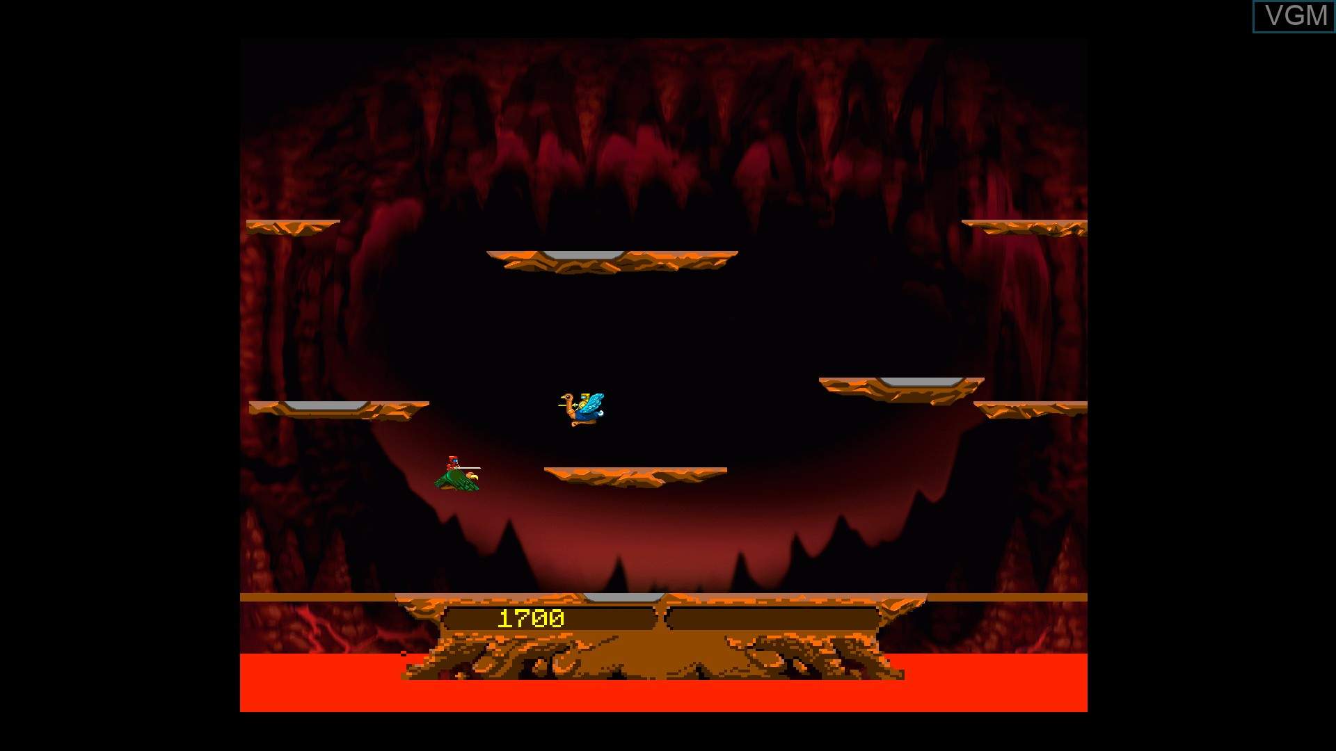 In-game screen of the game Joust on Microsoft Xbox 360