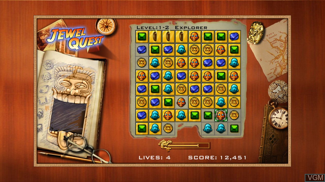 In-game screen of the game Jewel Quest on Microsoft Xbox 360