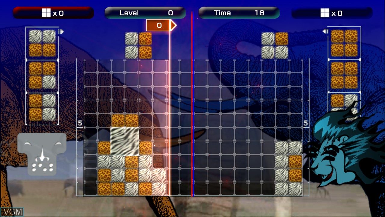 In-game screen of the game Lumines Live! on Microsoft Xbox 360