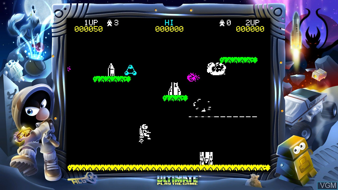 In-game screen of the game Jetpac Refuelled on Microsoft Xbox 360