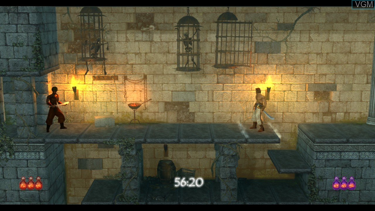 In-game screen of the game Prince of Persia Classic on Microsoft Xbox 360