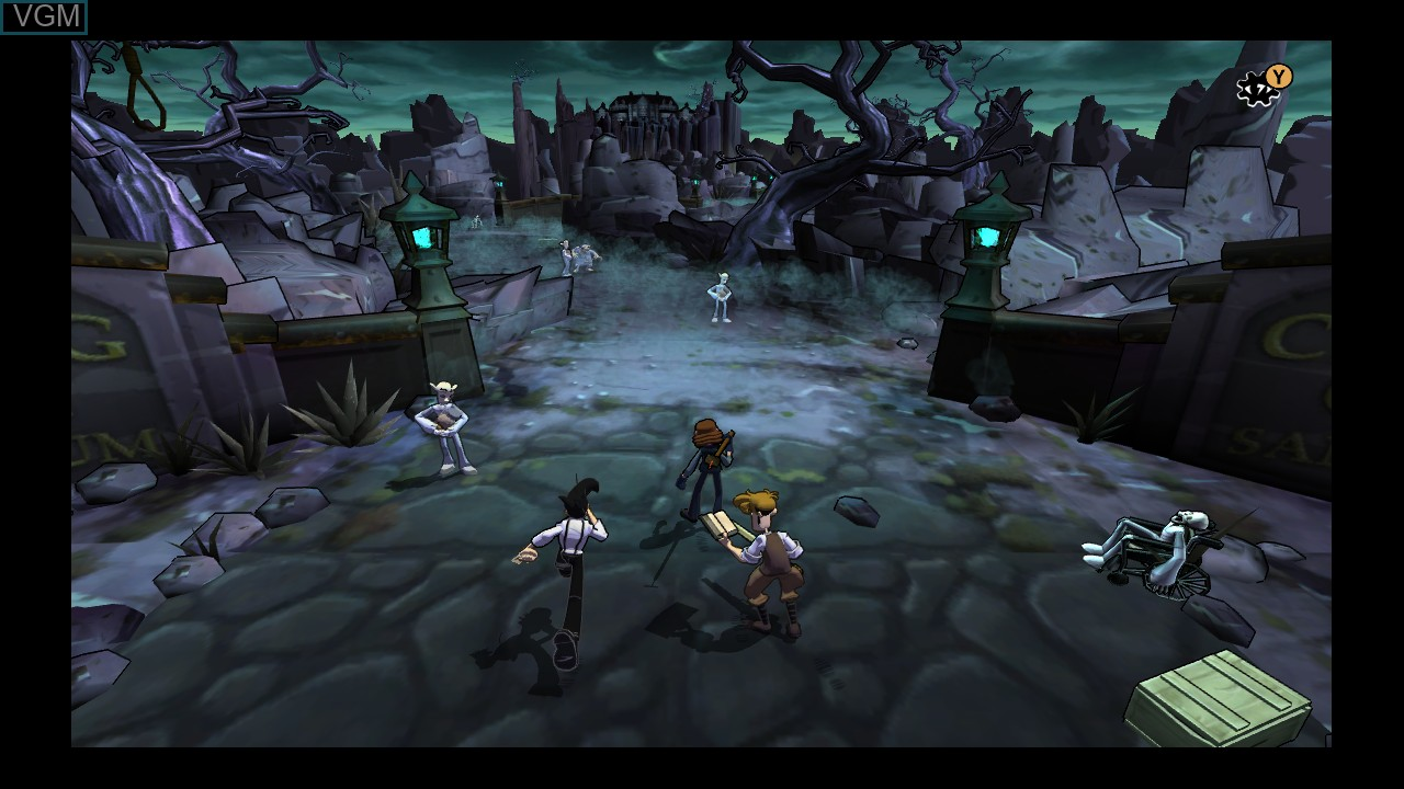 In-game screen of the game Penny Arcade Adventures - On the Rain-Slick Precipice of Darkness Episode Two on Microsoft Xbox 360