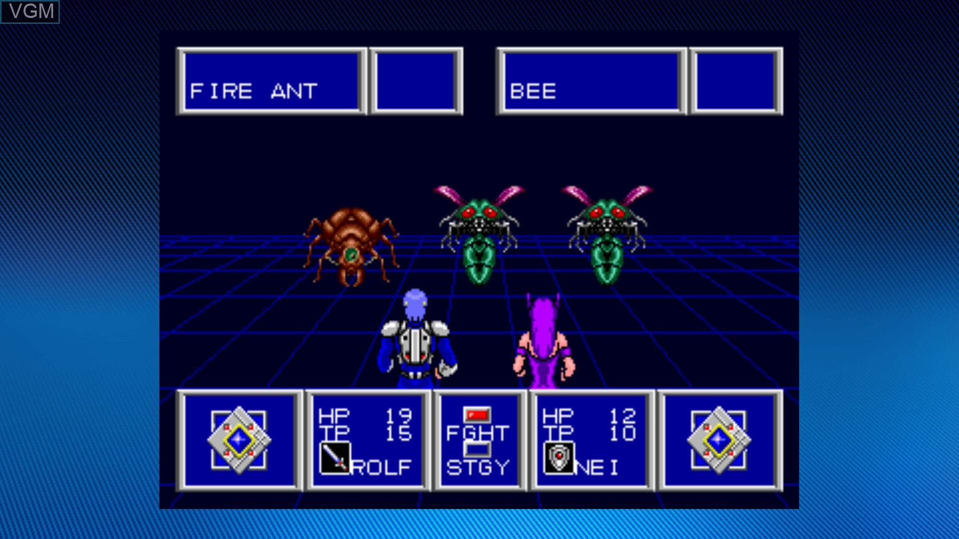 In-game screen of the game Phantasy Star II on Microsoft Xbox 360