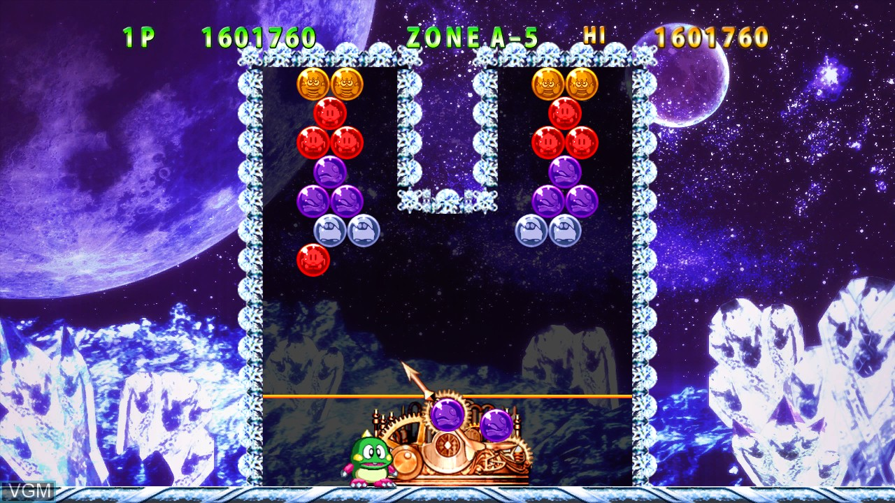 In-game screen of the game Puzzle Bobble Live! on Microsoft Xbox 360