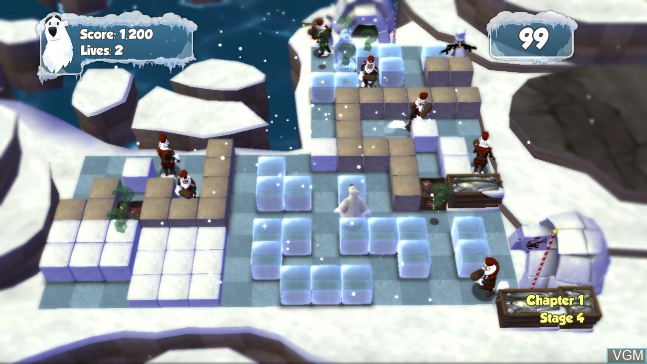In-game screen of the game Polar Panic on Microsoft Xbox 360