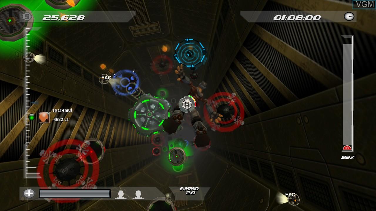 In-game screen of the game Screwjumper! on Microsoft Xbox 360