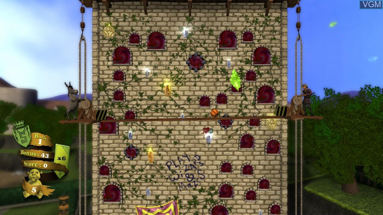 In-game screen of the game Shrek-N-Roll on Microsoft Xbox 360