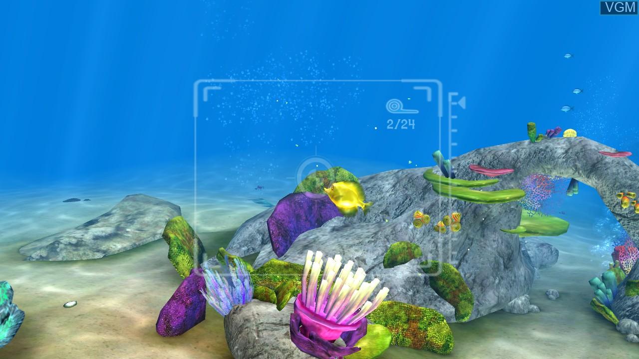 In-game screen of the game Sea Life Safari on Microsoft Xbox 360