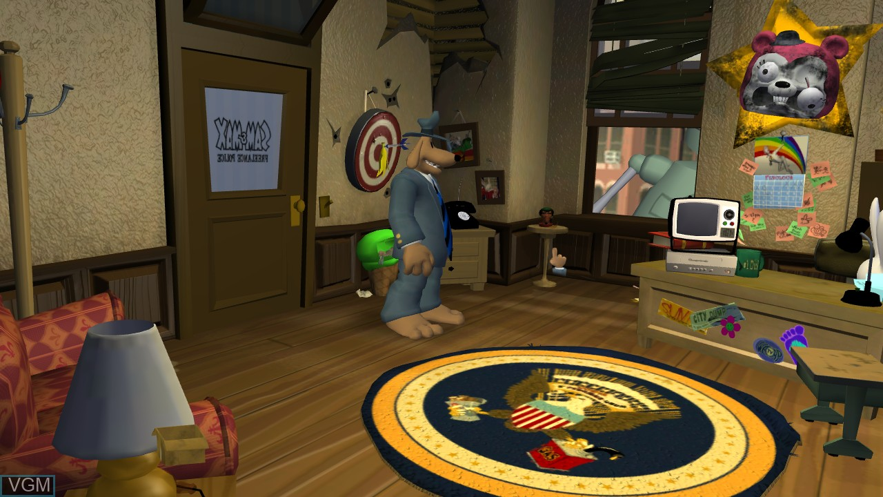 In-game screen of the game Sam & Max - Beyond Time and Space on Microsoft Xbox 360