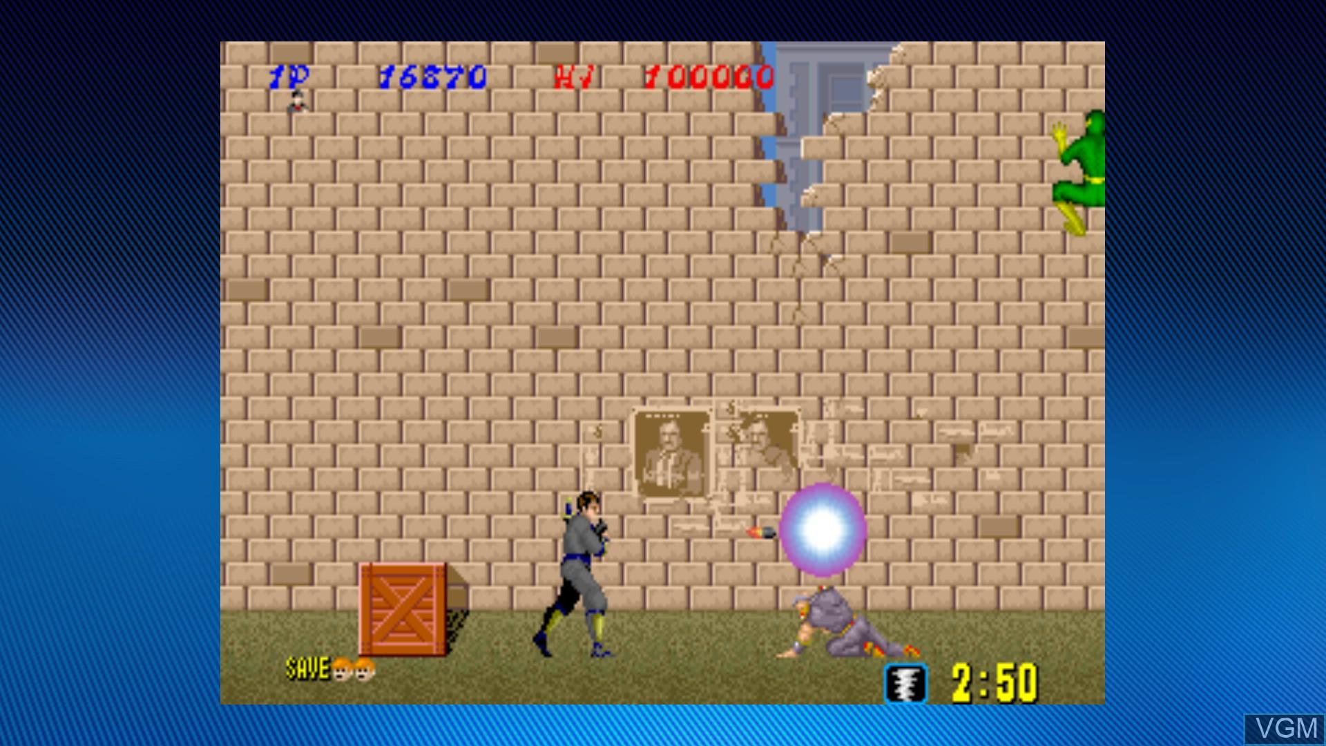 In-game screen of the game Shinobi on Microsoft Xbox 360