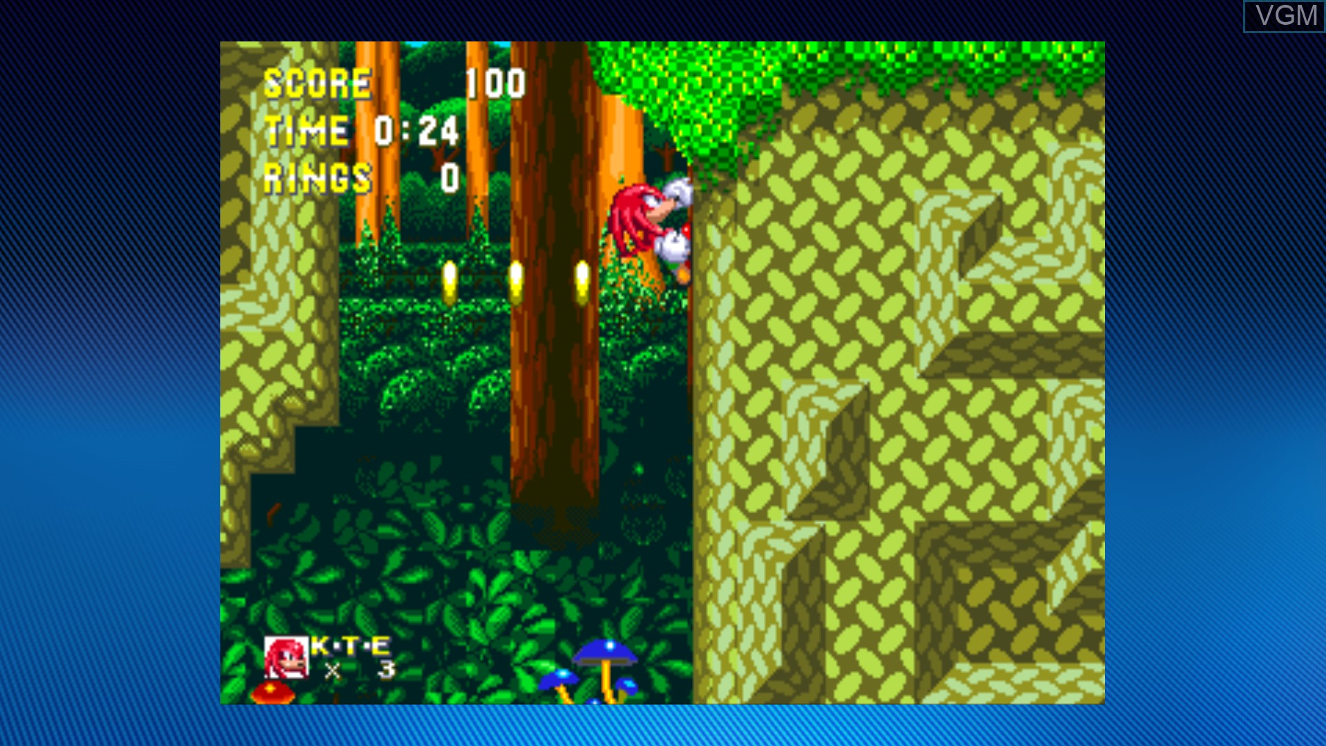In-game screen of the game Sonic & Knuckles on Microsoft Xbox 360