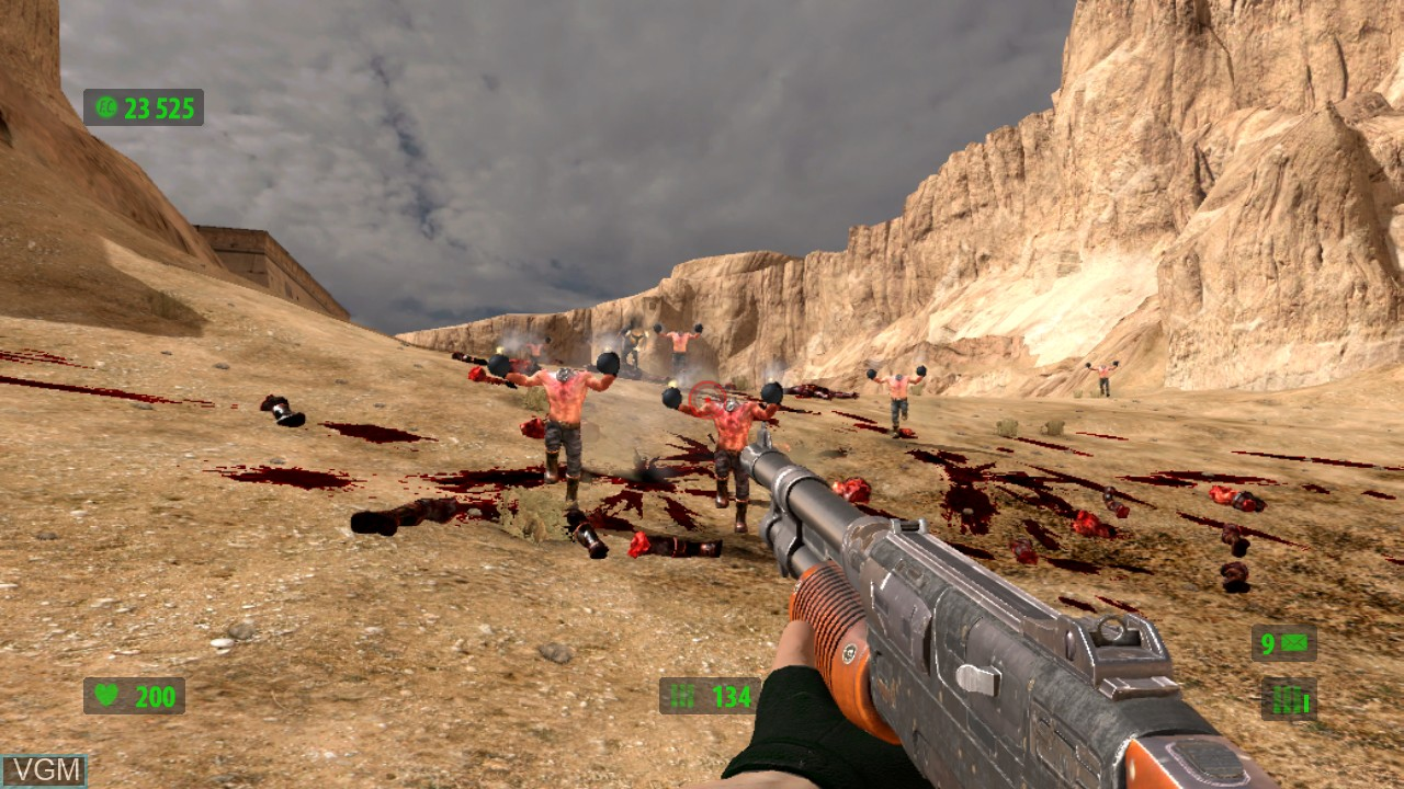 In-game screen of the game Serious Sam HD - The First Encounter on Microsoft Xbox 360