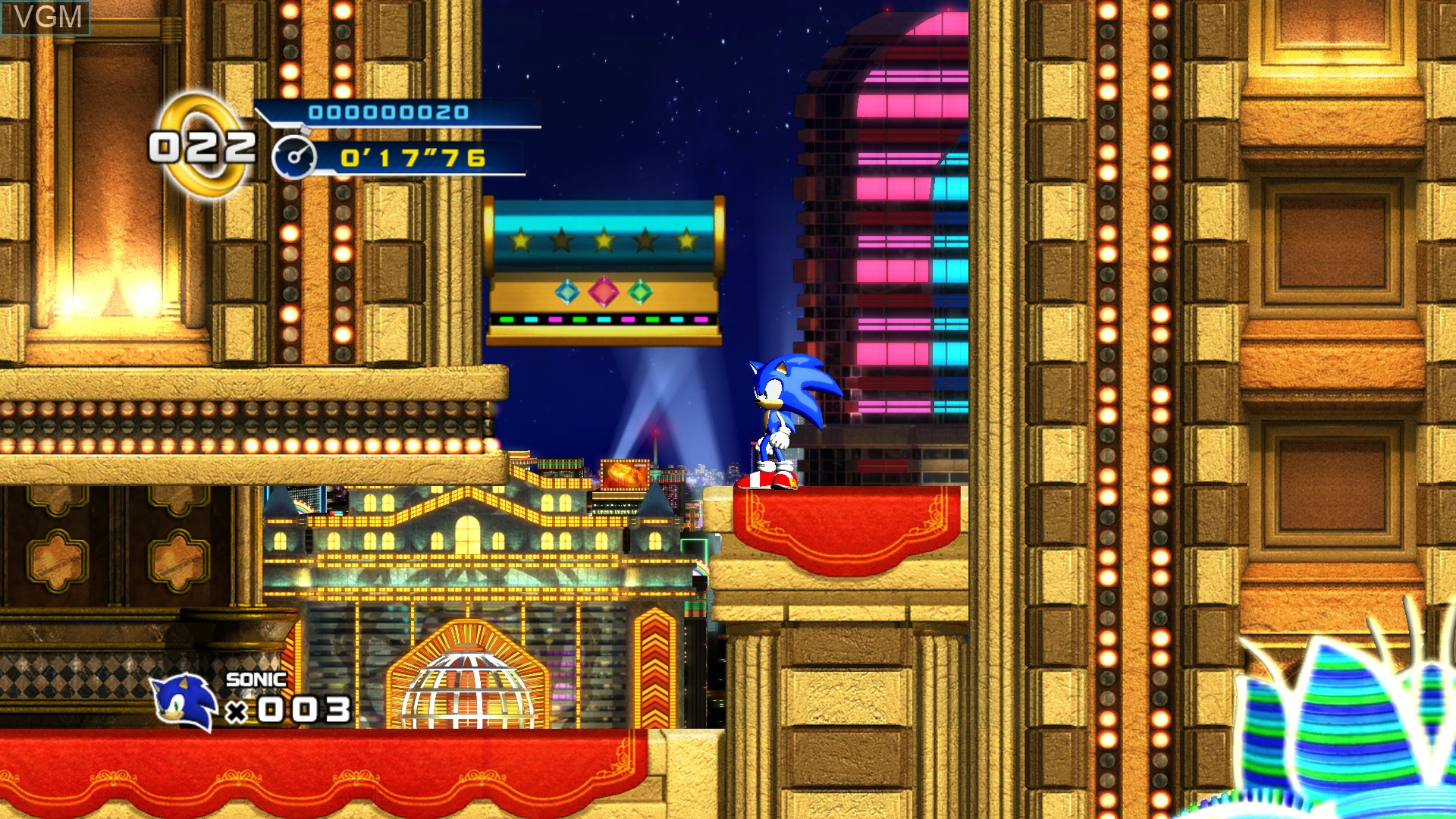 In-game screen of the game Sonic the Hedgehog 4 - Episode I on Microsoft Xbox 360