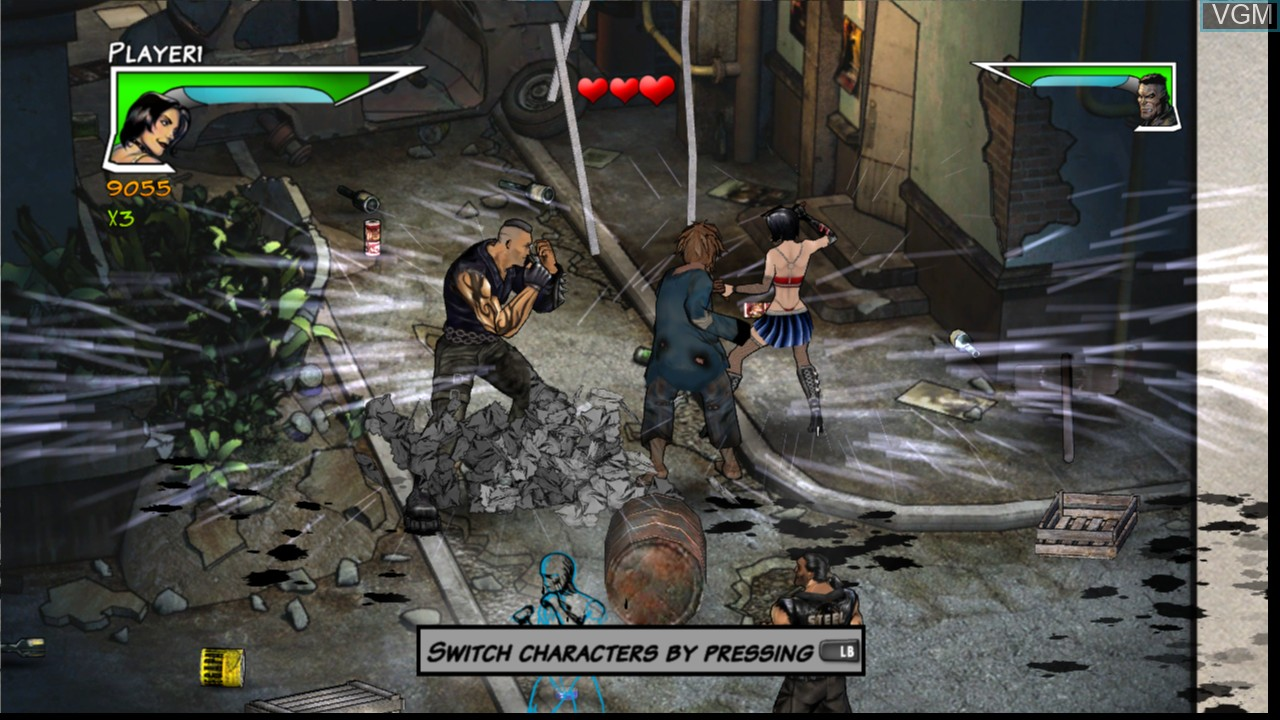 In-game screen of the game Unbound Saga on Microsoft Xbox 360