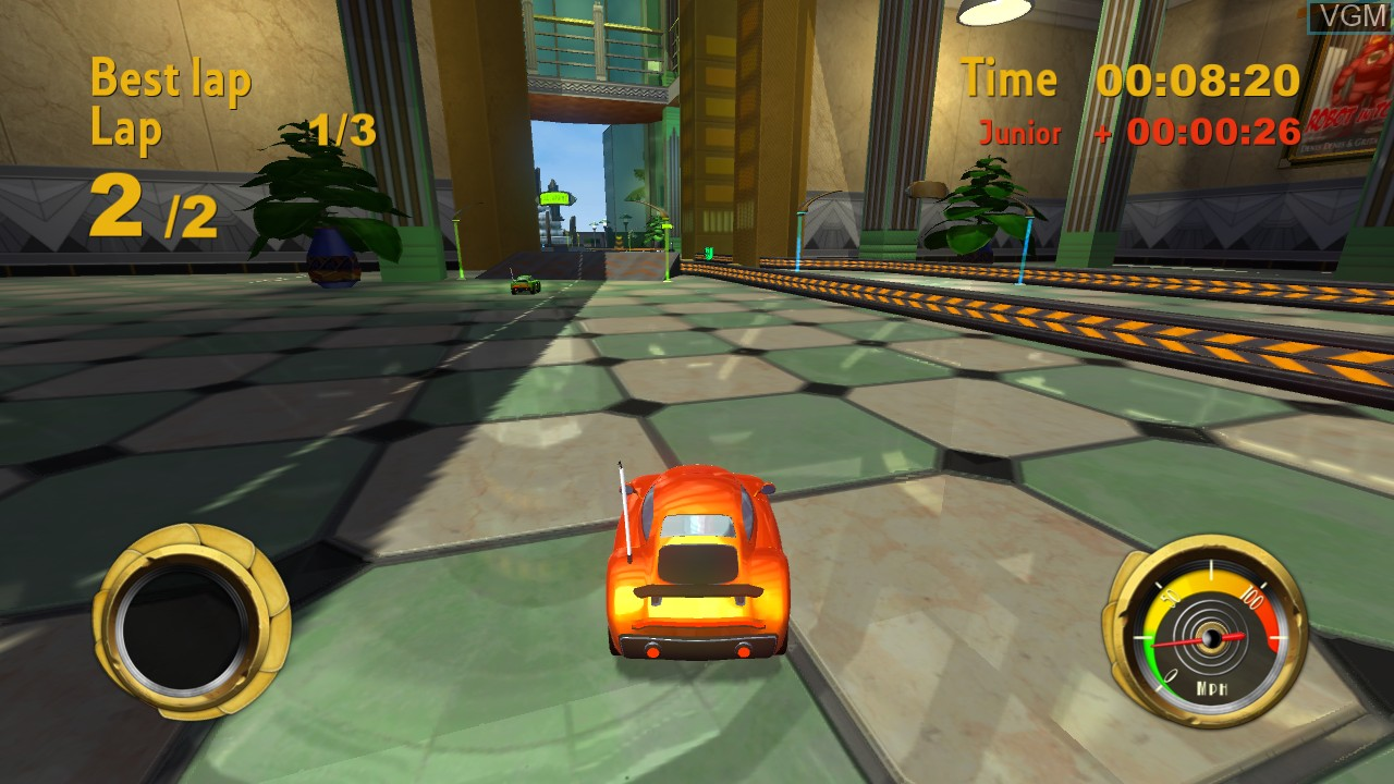 In-game screen of the game Things on Wheels on Microsoft Xbox 360