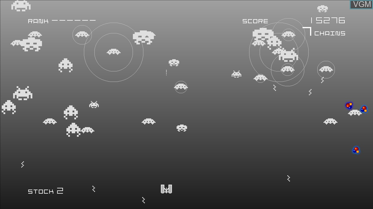 In-game screen of the game Space Invaders Infinity Gene on Microsoft Xbox 360