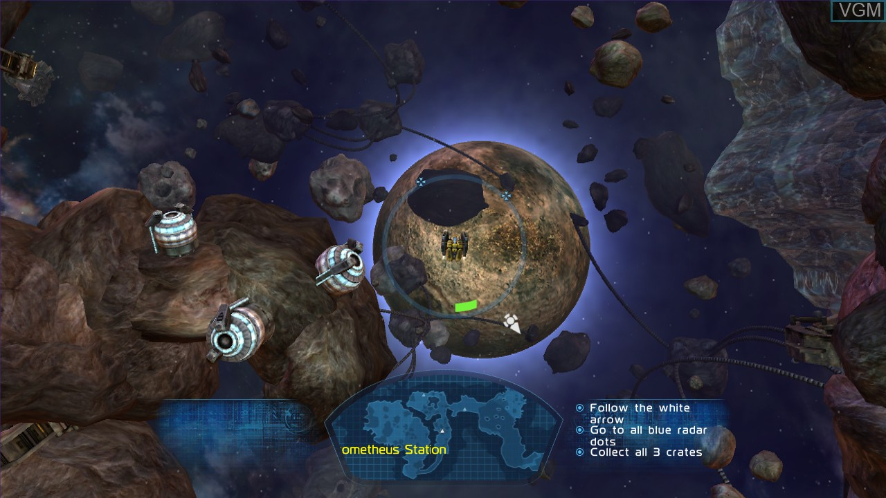 In-game screen of the game Fusion - Genesis on Microsoft Xbox 360