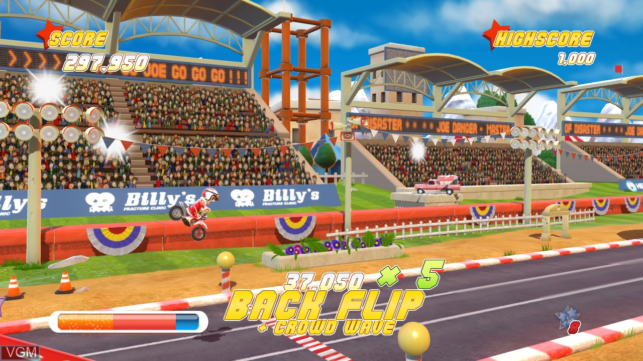 In-game screen of the game Joe Danger - Special Edition on Microsoft Xbox 360