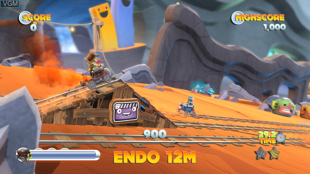 In-game screen of the game Joe Danger 2 - The Movie on Microsoft Xbox 360