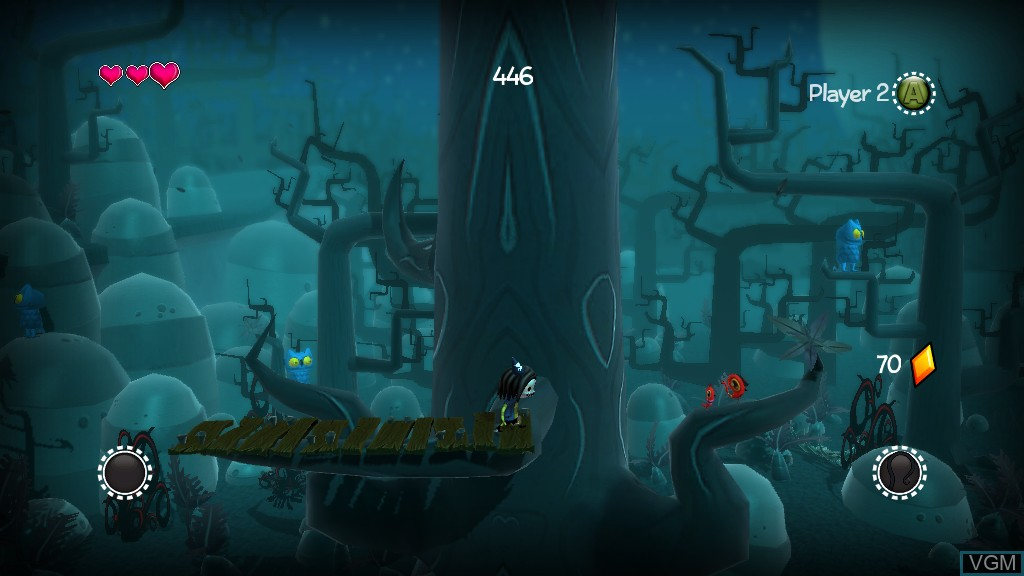 In-game screen of the game Scarygirl on Microsoft Xbox 360