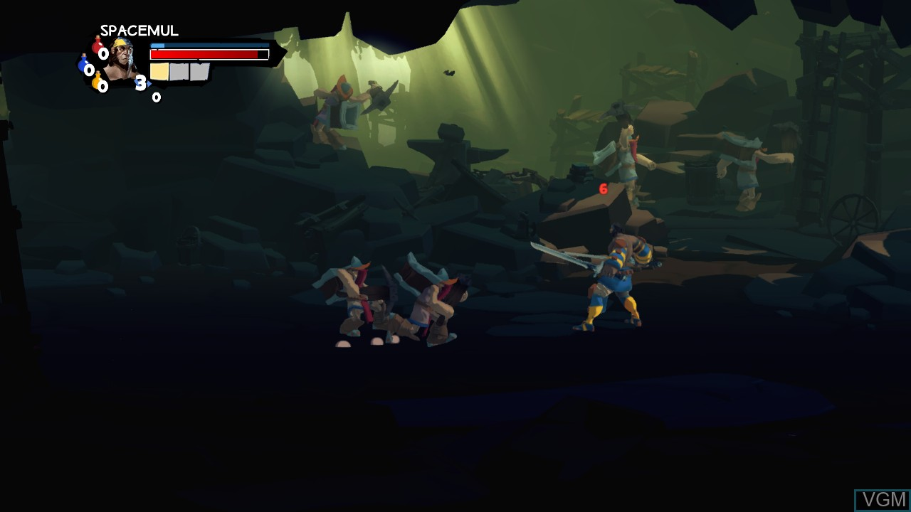 In-game screen of the game Sacred Citadel on Microsoft Xbox 360
