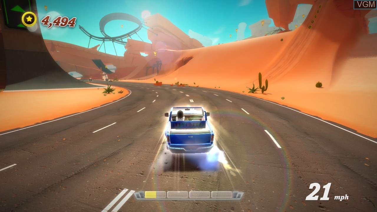 In-game screen of the game Joy Ride Turbo on Microsoft Xbox 360