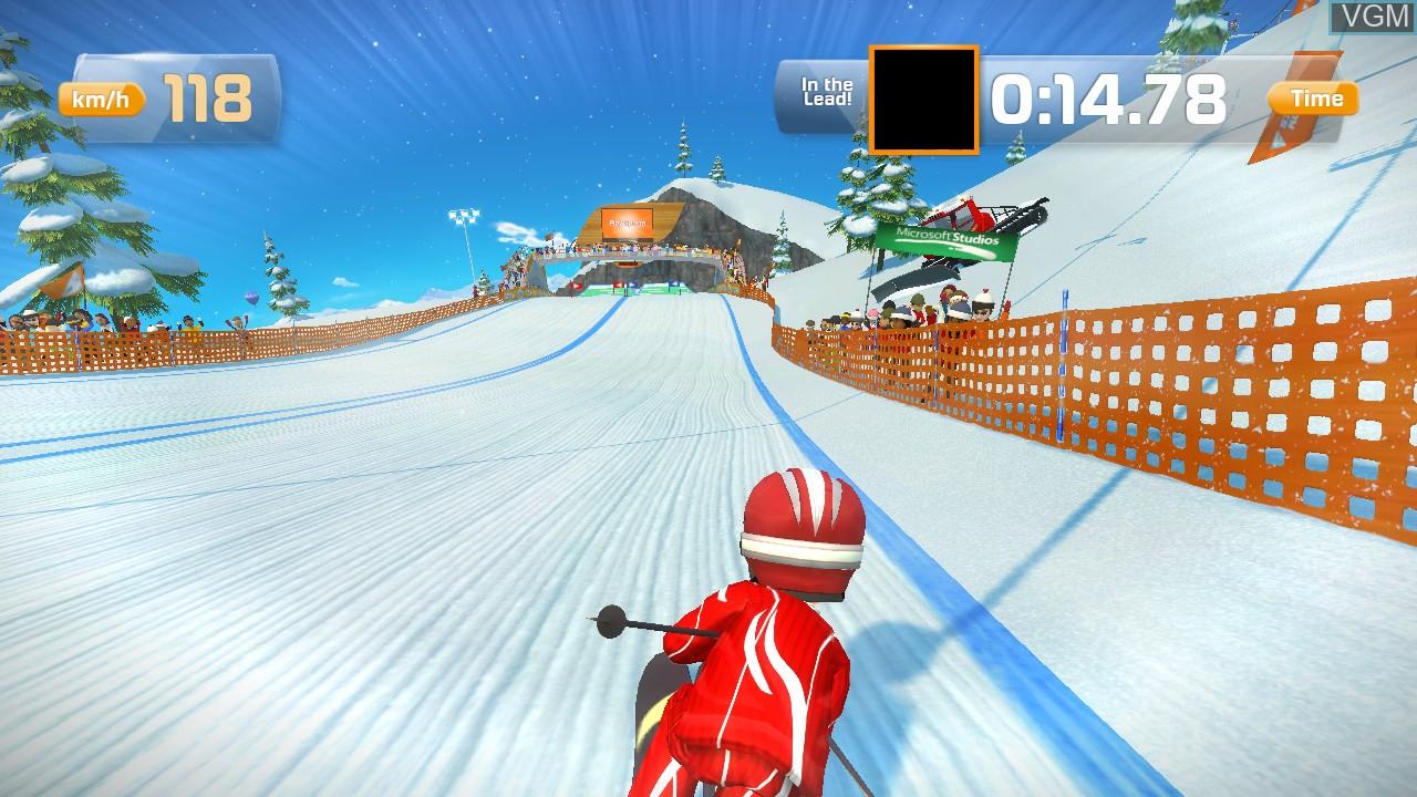 In-game screen of the game Ski Race on Microsoft Xbox 360