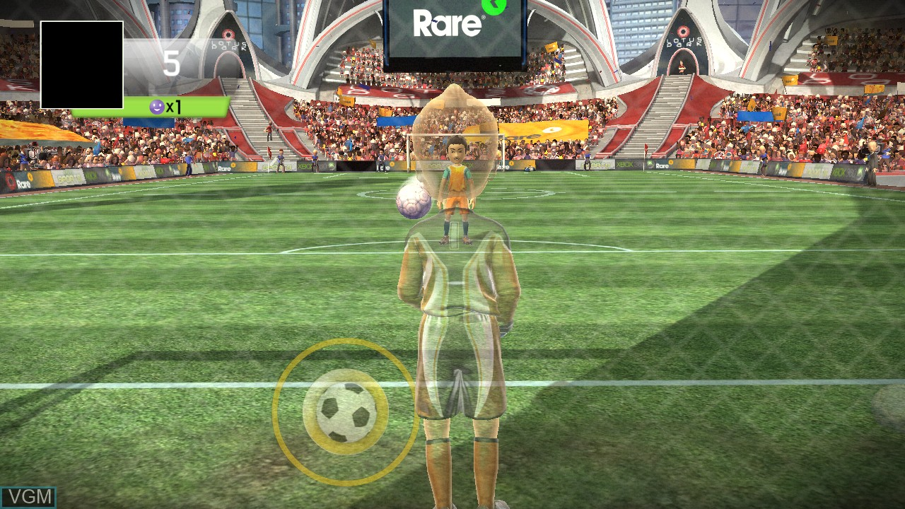 In-game screen of the game Kinect Sports - Penalty Saver on Microsoft Xbox 360